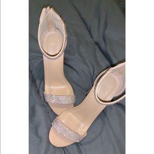 Charlotte Russe nude diamond heels
